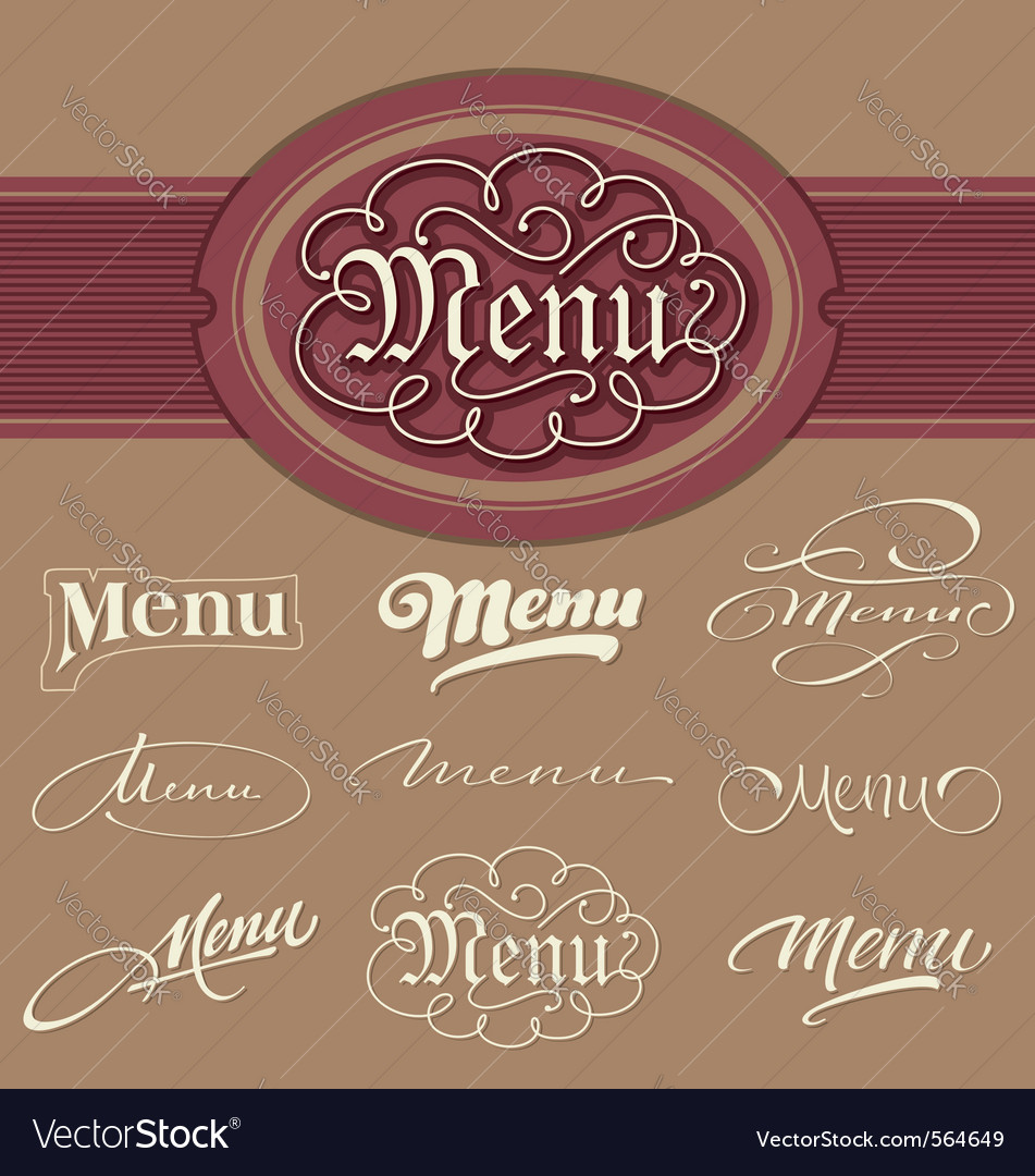 Menu headlines vector | Price: 1 Credit (USD $1)