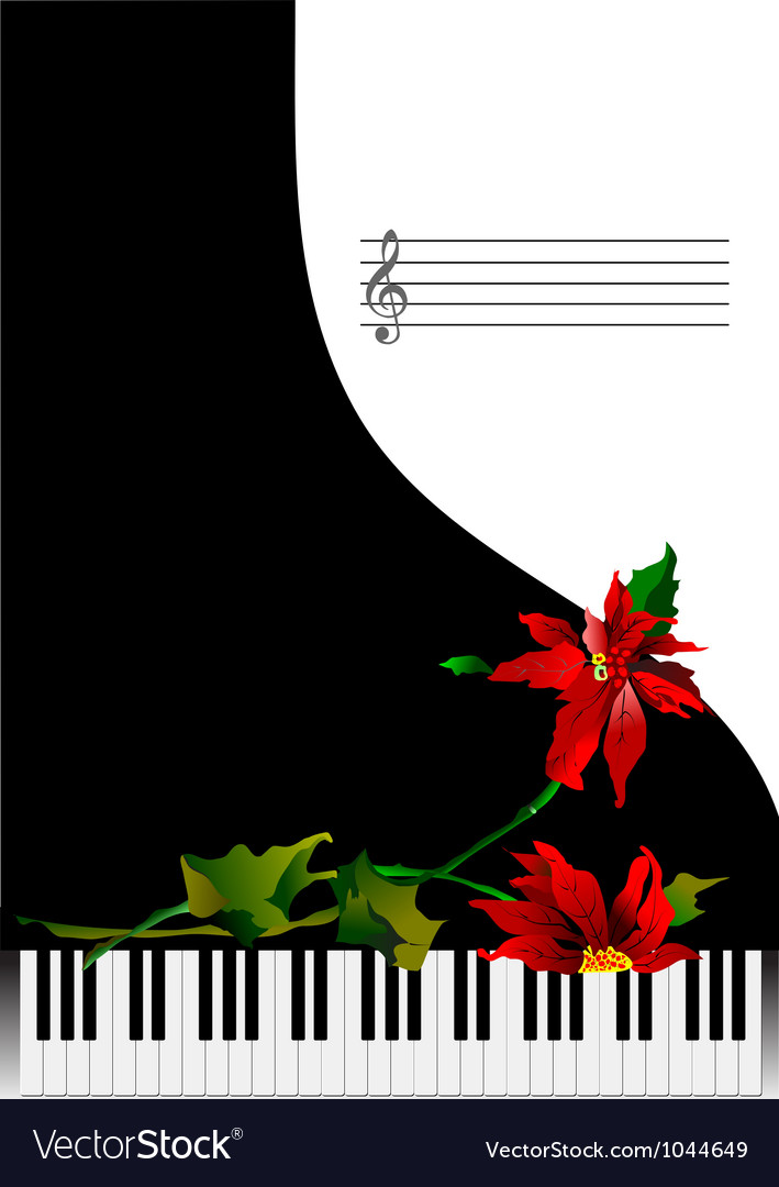 Piano background vector | Price: 1 Credit (USD $1)