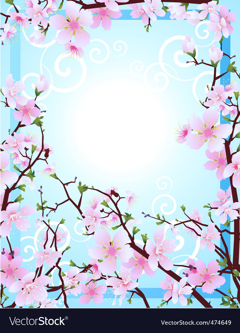Sakura frame vector | Price: 1 Credit (USD $1)