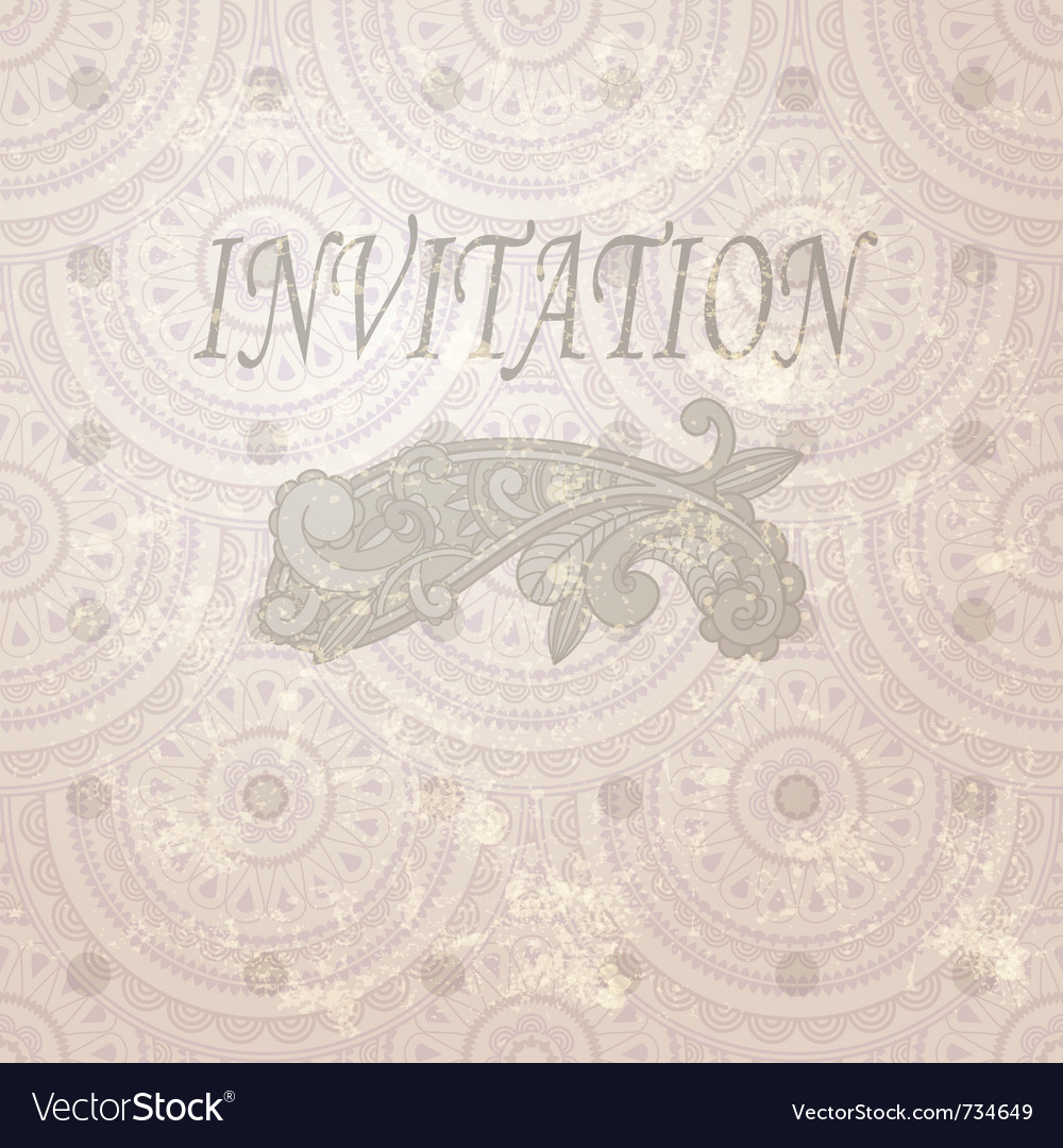 Vintage invitation vector | Price: 1 Credit (USD $1)