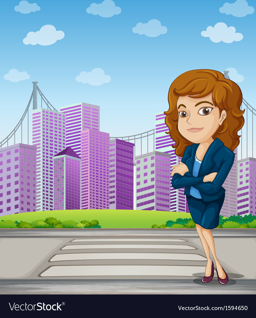 A businesswoman with a formal attire standing at vector | Price: 1 Credit (USD $1)