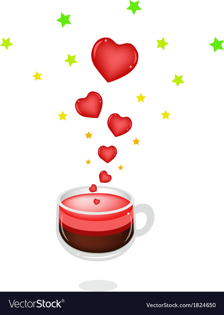 A cup of hot coffee with love vector | Price: 1 Credit (USD $1)