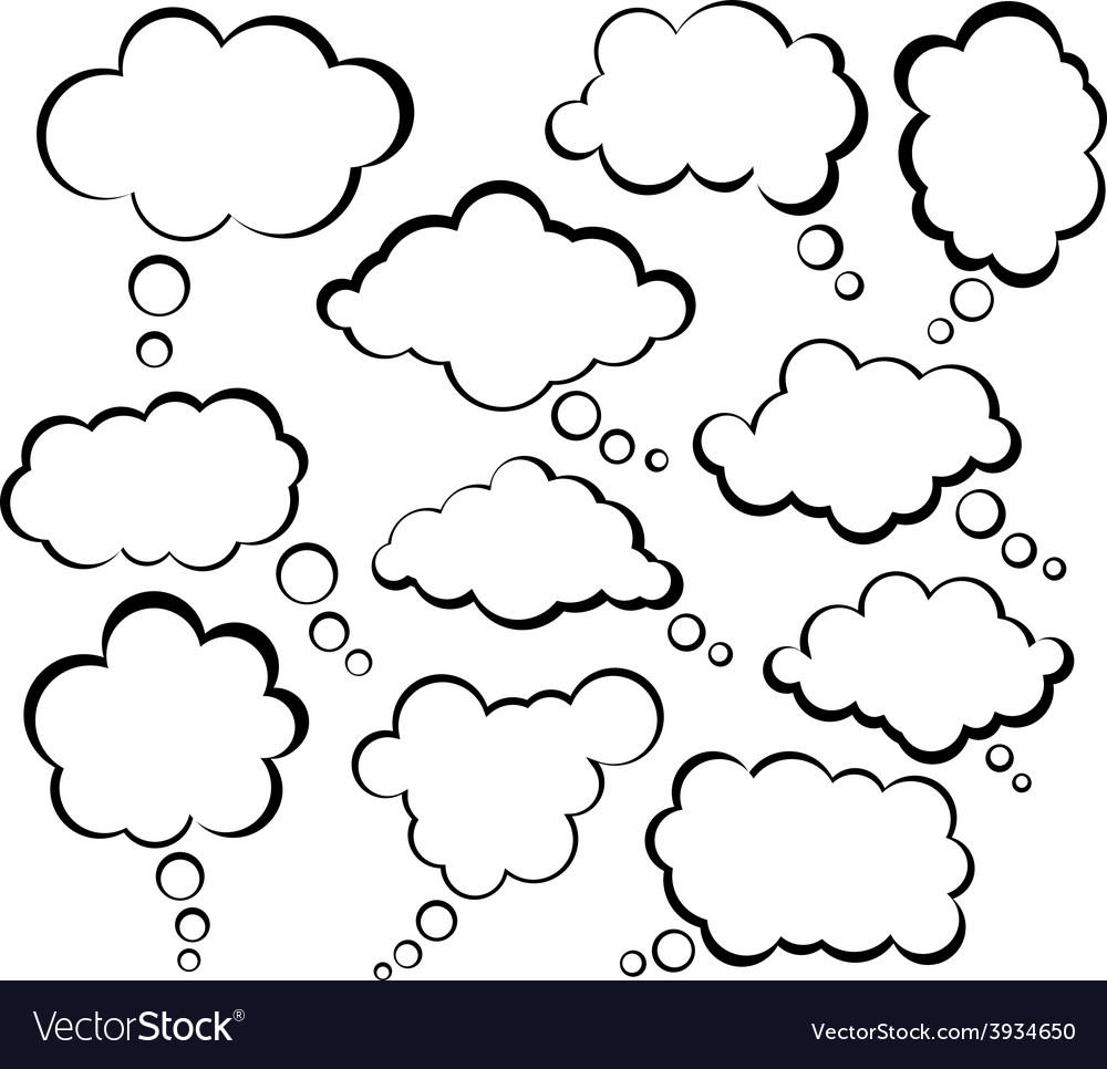 Comic cloud speech bubbles vector | Price: 1 Credit (USD $1)