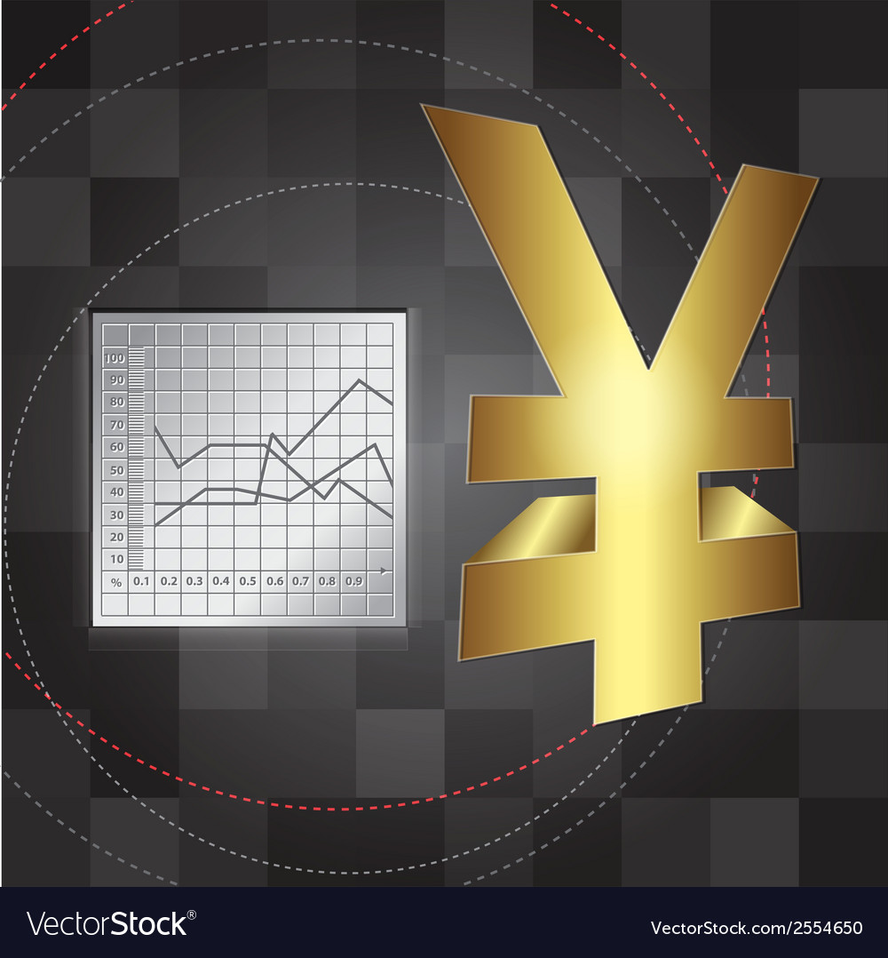 Financial background 3d yen sign vector | Price: 1 Credit (USD $1)