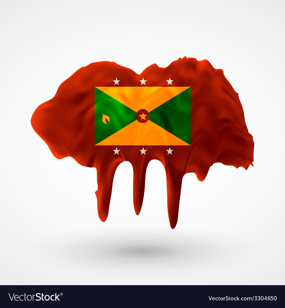 Flag of grenada painted colors vector | Price: 1 Credit (USD $1)