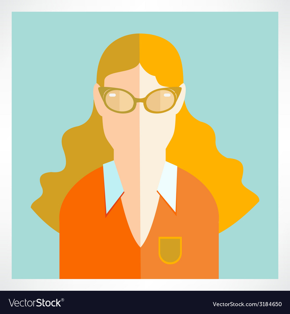 Flat woman icons vector | Price: 1 Credit (USD $1)