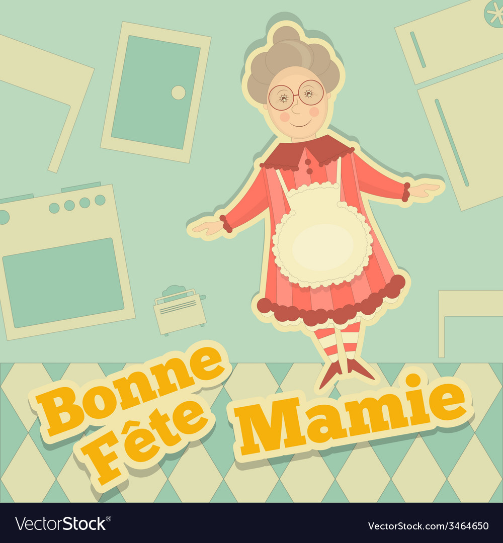 Grandmother day france vector | Price: 1 Credit (USD $1)
