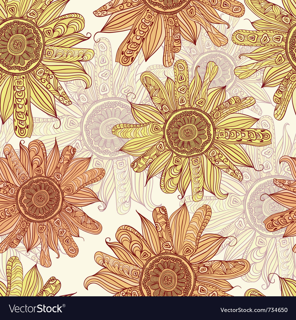 Hand drawn sunflower vector | Price: 1 Credit (USD $1)