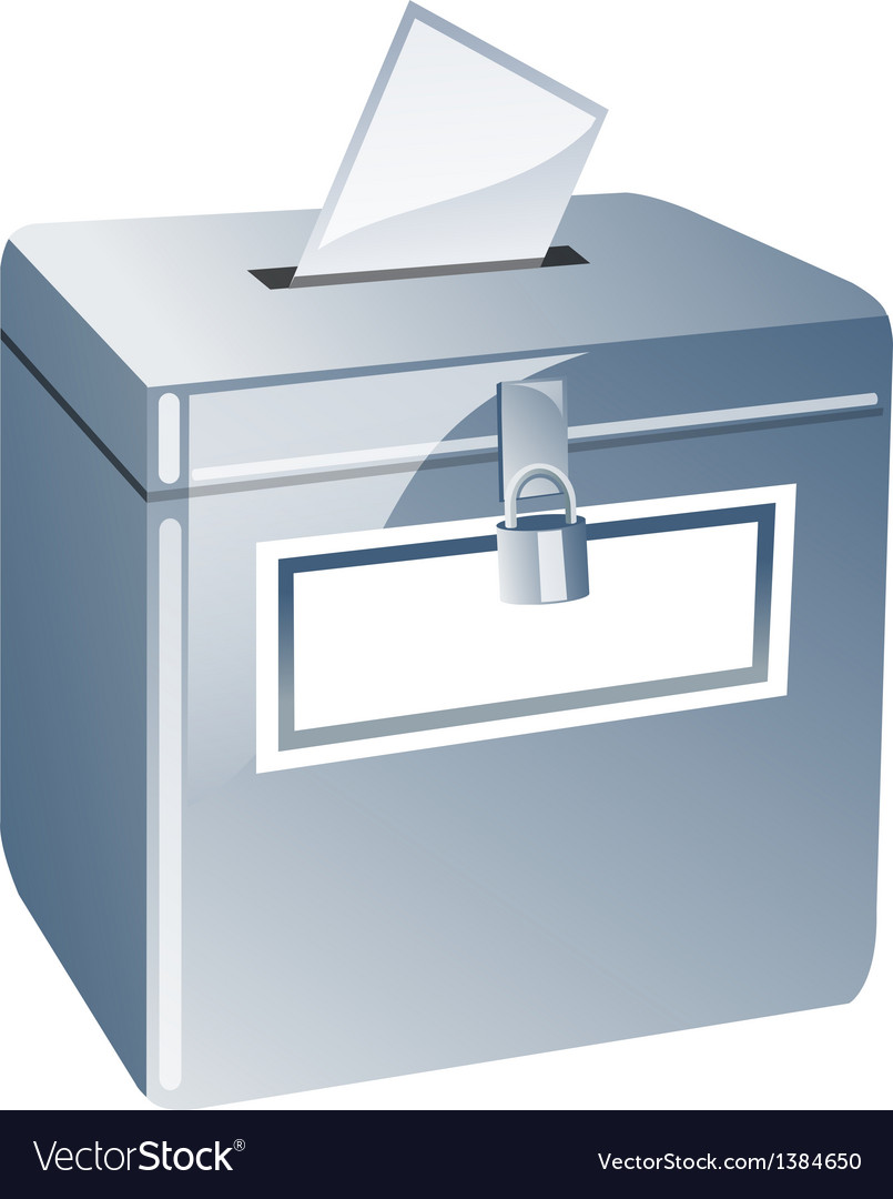 Icon ballot box vector | Price: 1 Credit (USD $1)