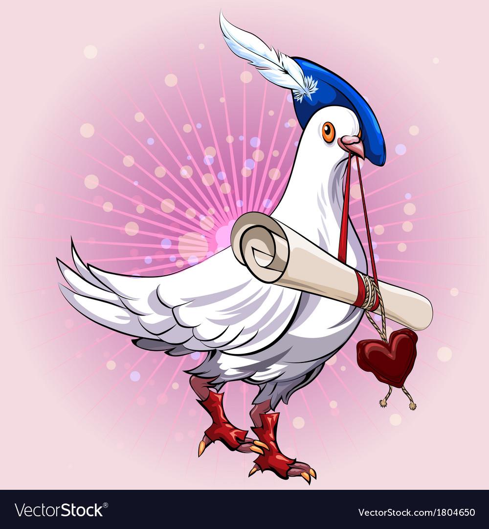 Love messenger vector | Price: 1 Credit (USD $1)