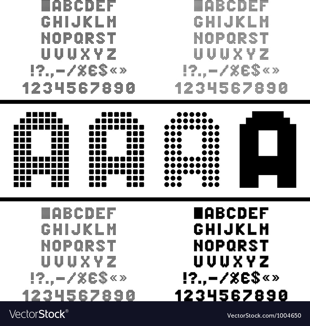 Pixel alphabet vector | Price: 1 Credit (USD $1)
