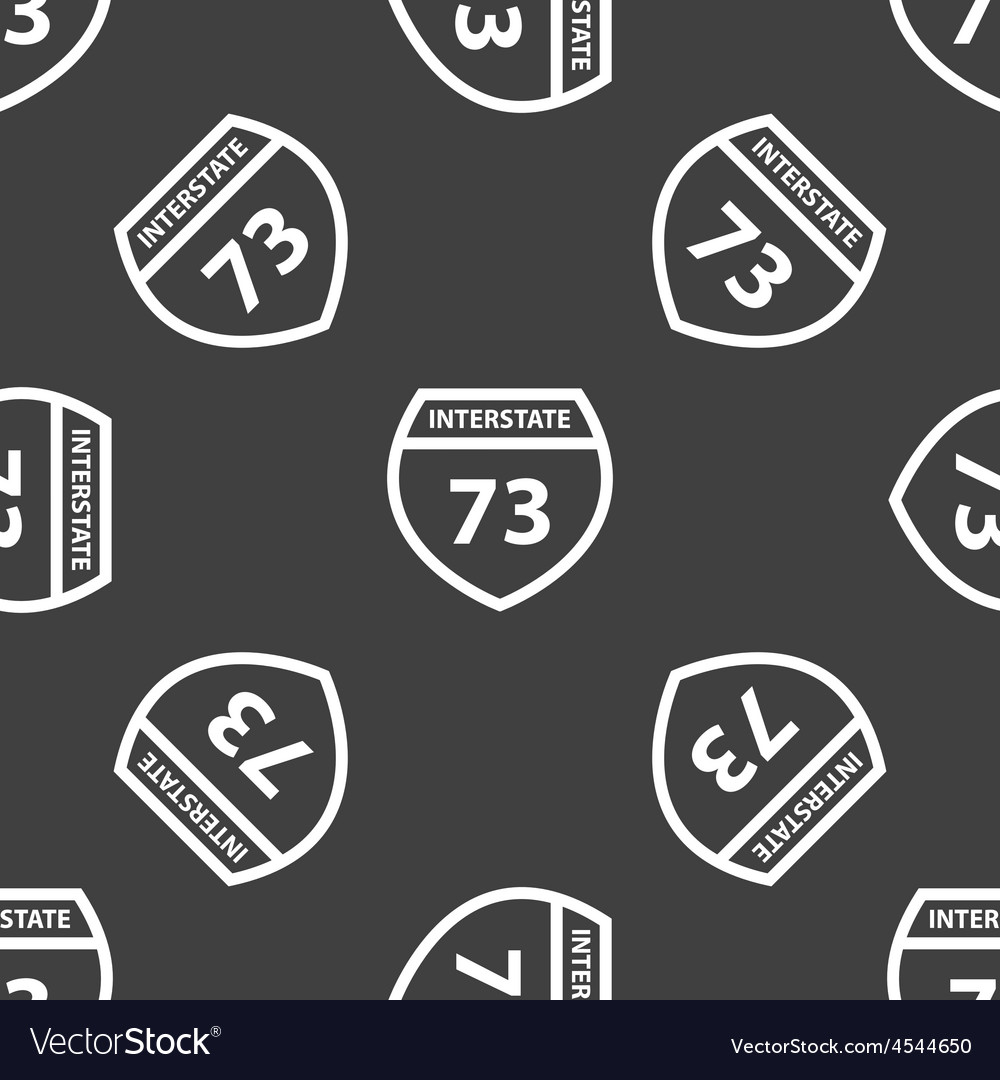 Sign interstate 73 pattern vector | Price: 1 Credit (USD $1)