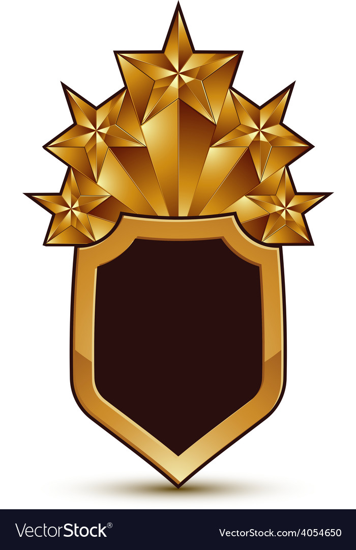 Sophisticated blazon with a golden star emblem 3d vector | Price: 1 Credit (USD $1)