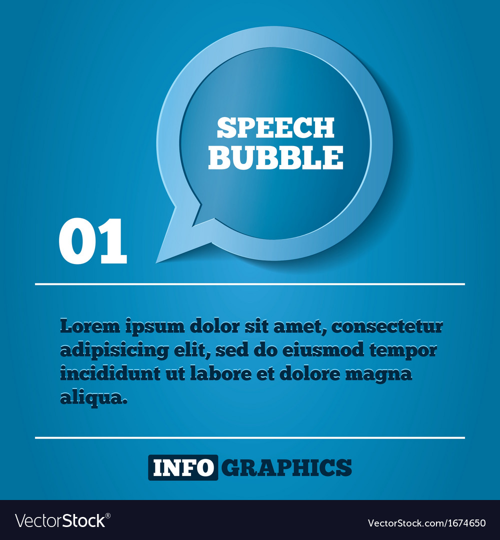 Speech bubble step background for infographics vector | Price: 1 Credit (USD $1)