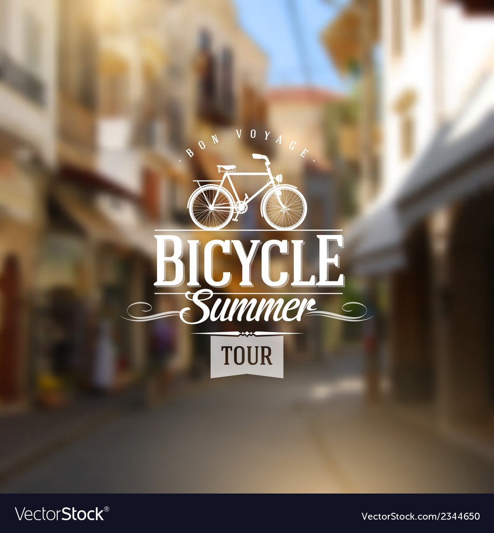 Type vintage design with bicycle silhouette vector | Price: 1 Credit (USD $1)