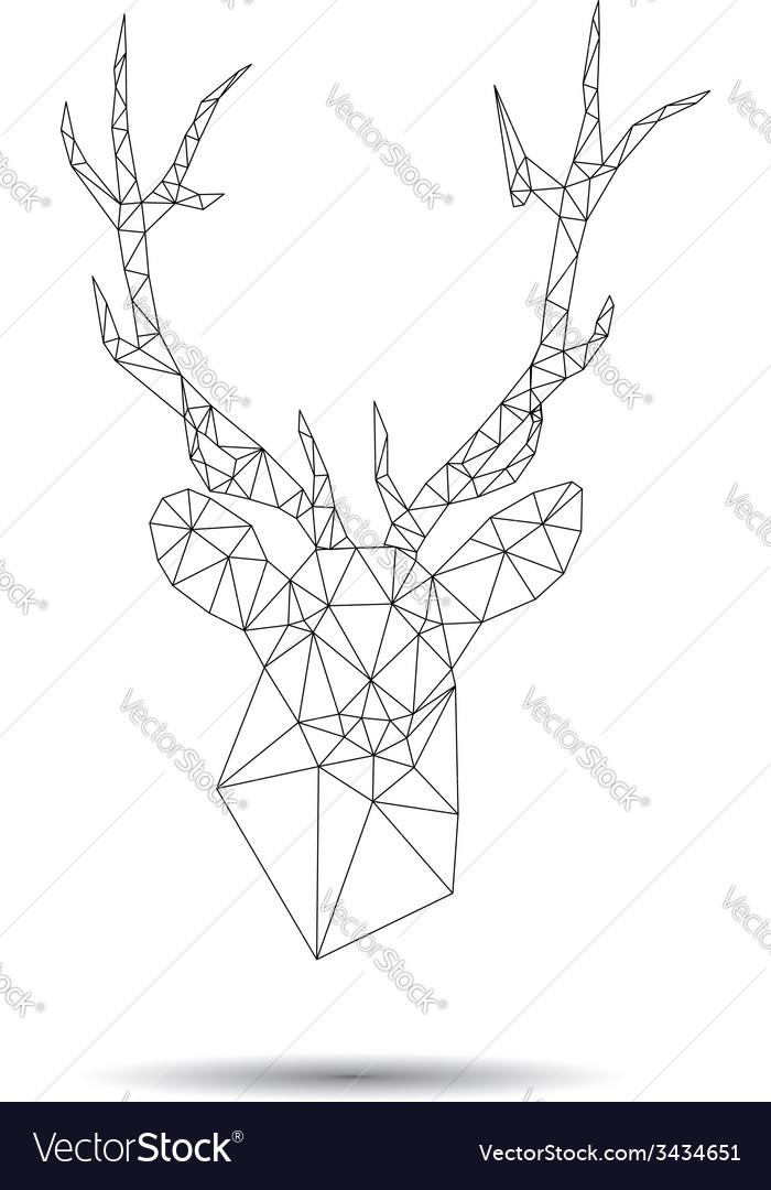 Deer head abstract vector | Price: 1 Credit (USD $1)