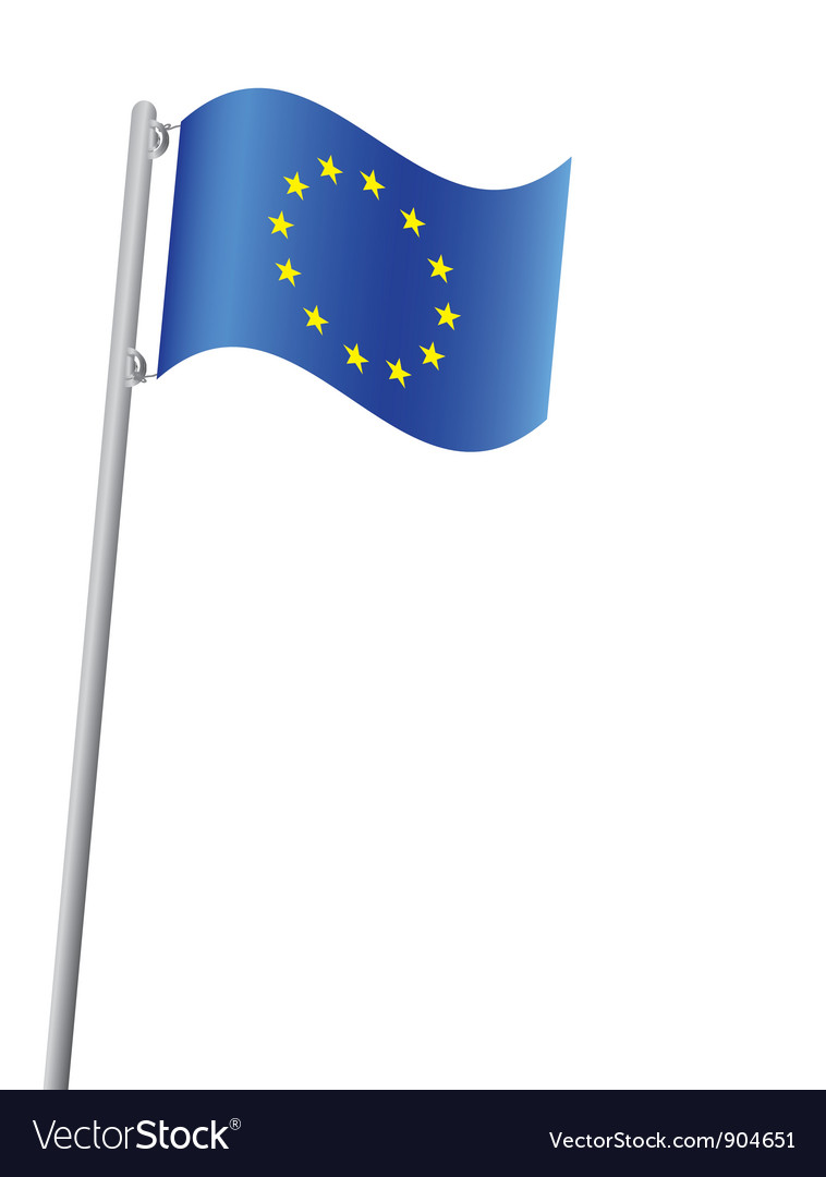 European union flag vector | Price: 1 Credit (USD $1)