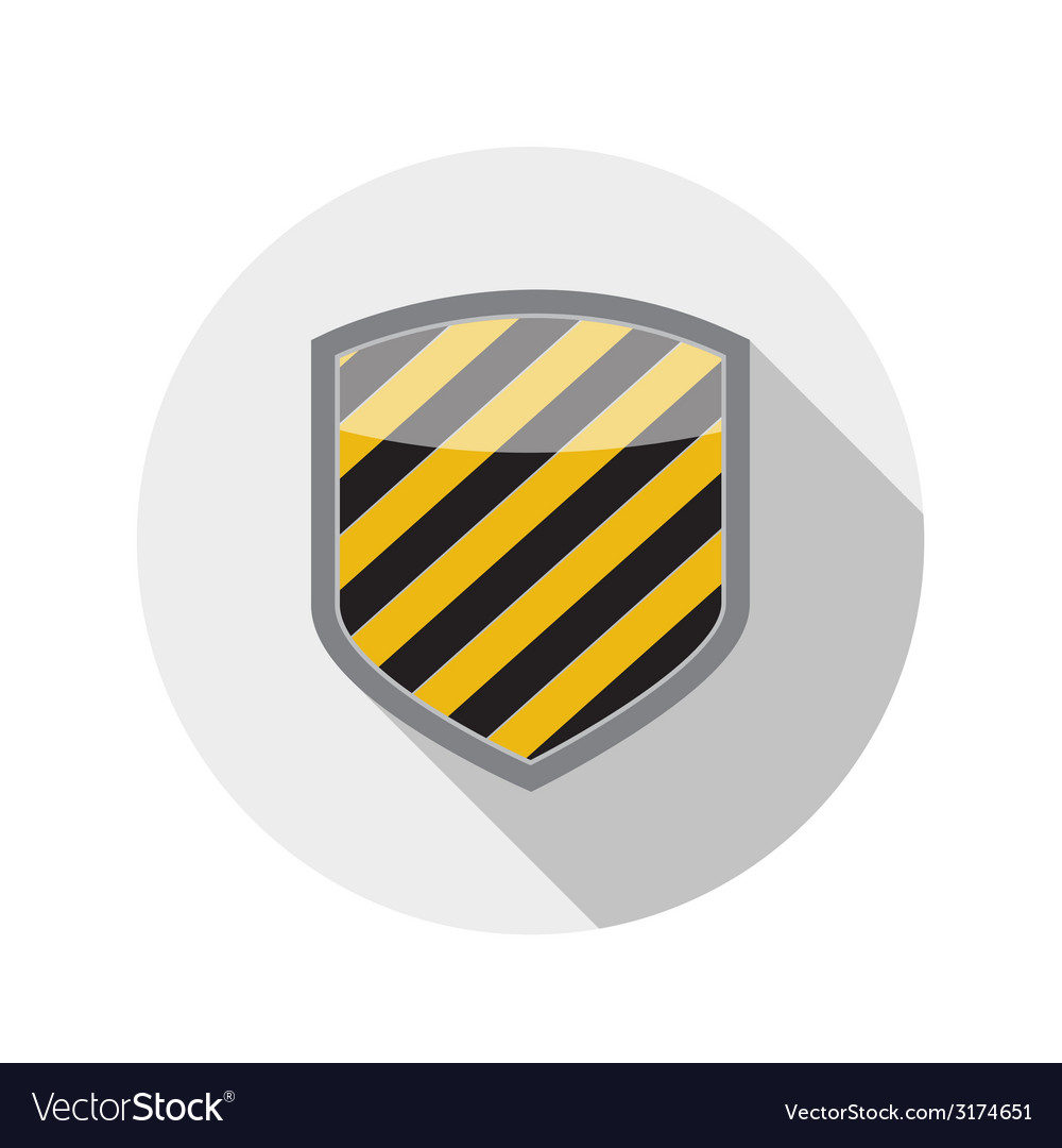 Flat design concept shield icon with long sh vector   Price: 1 Credit (USD $1)