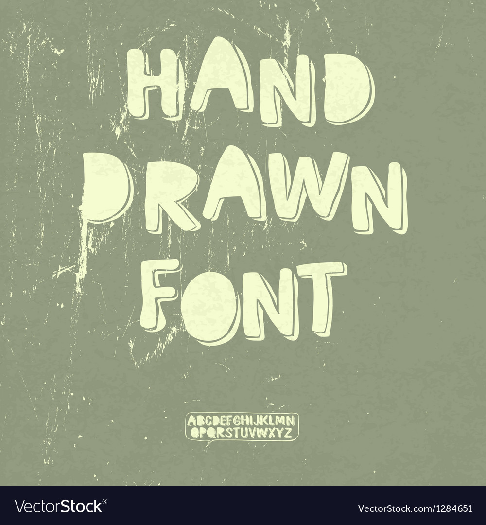 Hand drawn font with shadow vector | Price: 1 Credit (USD $1)
