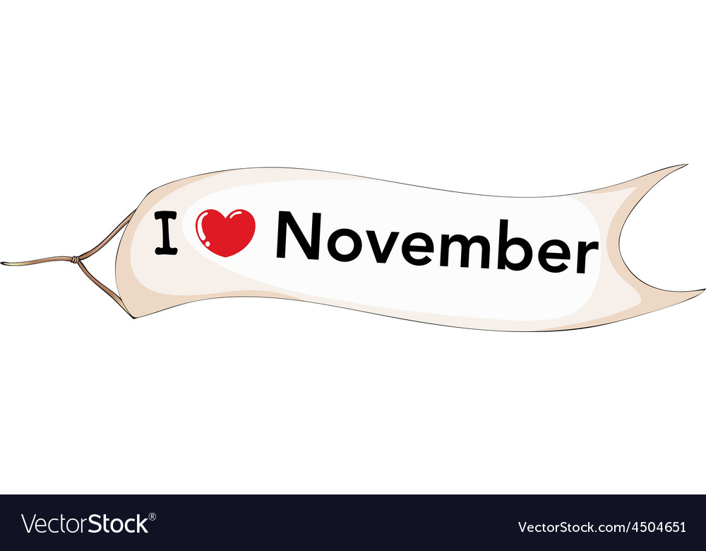 November vector | Price: 1 Credit (USD $1)