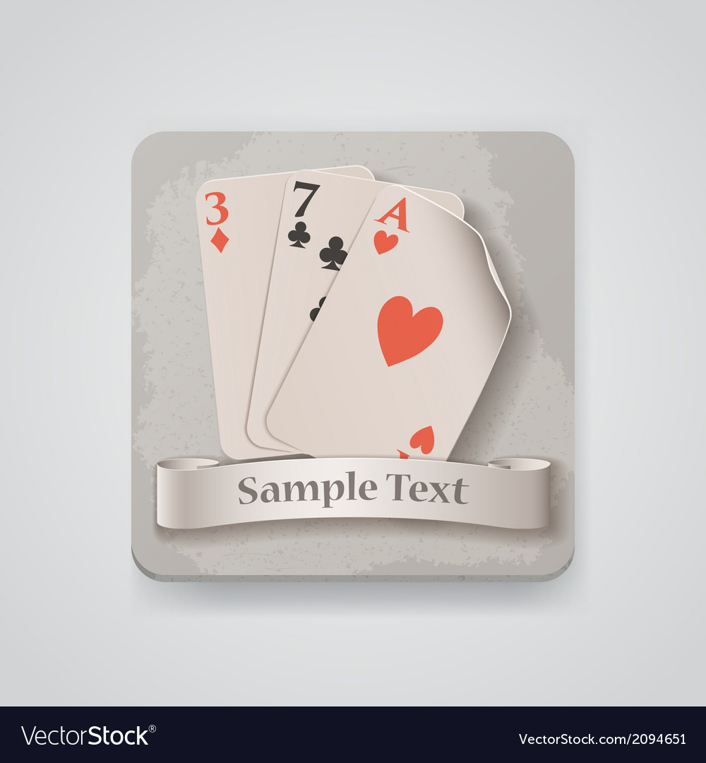 Playing cards icon vector | Price: 1 Credit (USD $1)