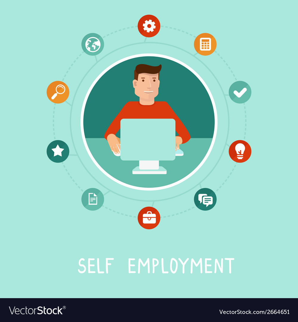Self employment vector | Price: 1 Credit (USD $1)