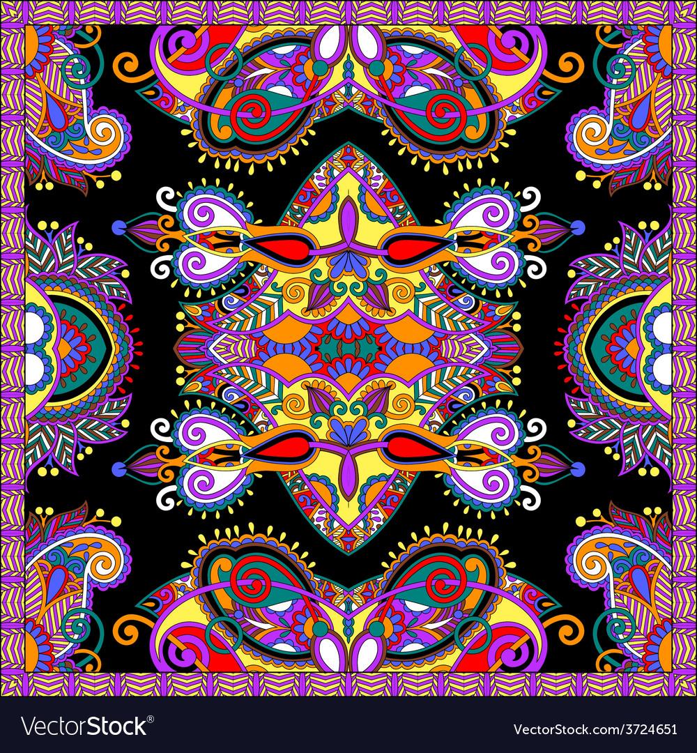 Silk neck scarf or kerchief square pattern design vector   Price: 1 Credit (USD $1)