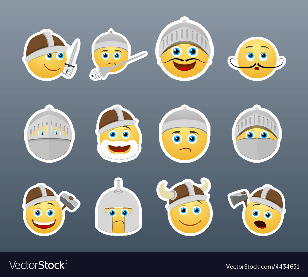Smilies vikings and knights vector   Price: 1 Credit (USD $1)