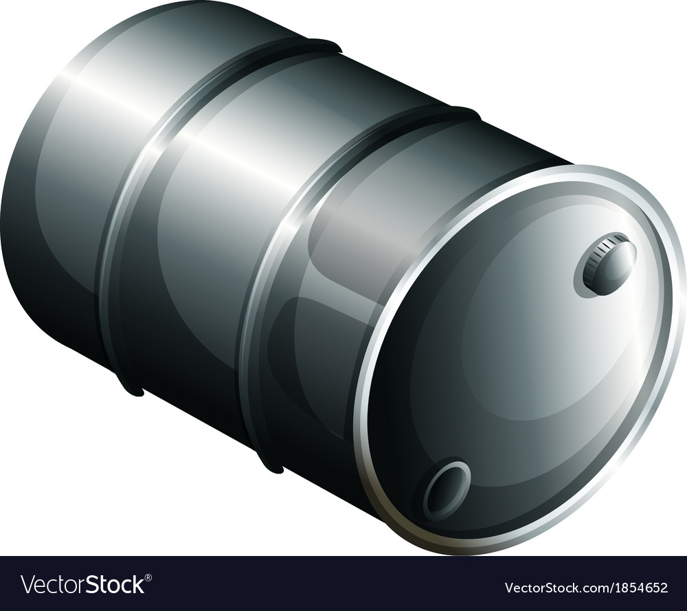 A gray oil barrel vector | Price: 1 Credit (USD $1)