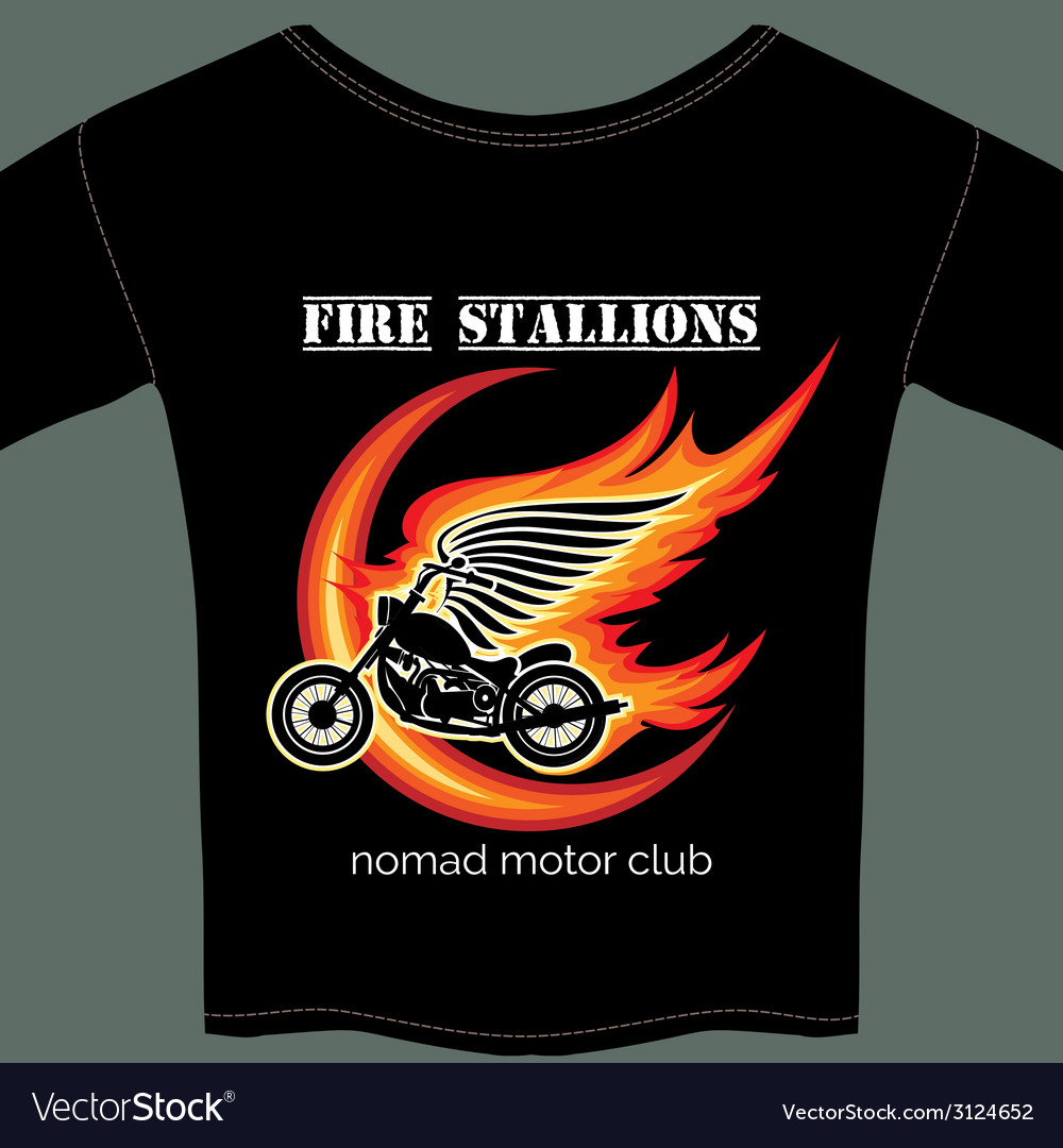 Biker t shirt template vector | Price: 1 Credit (USD $1)