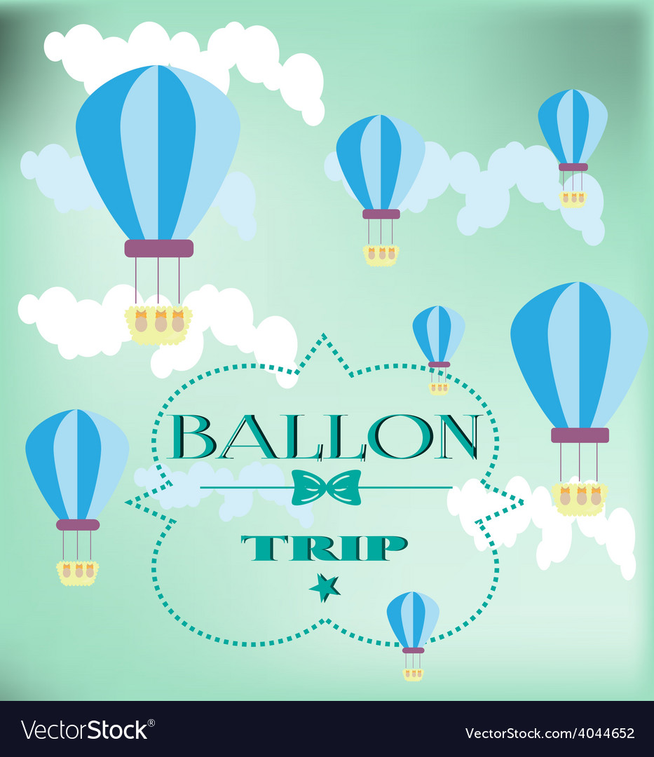 Card with balloons vector | Price: 1 Credit (USD $1)