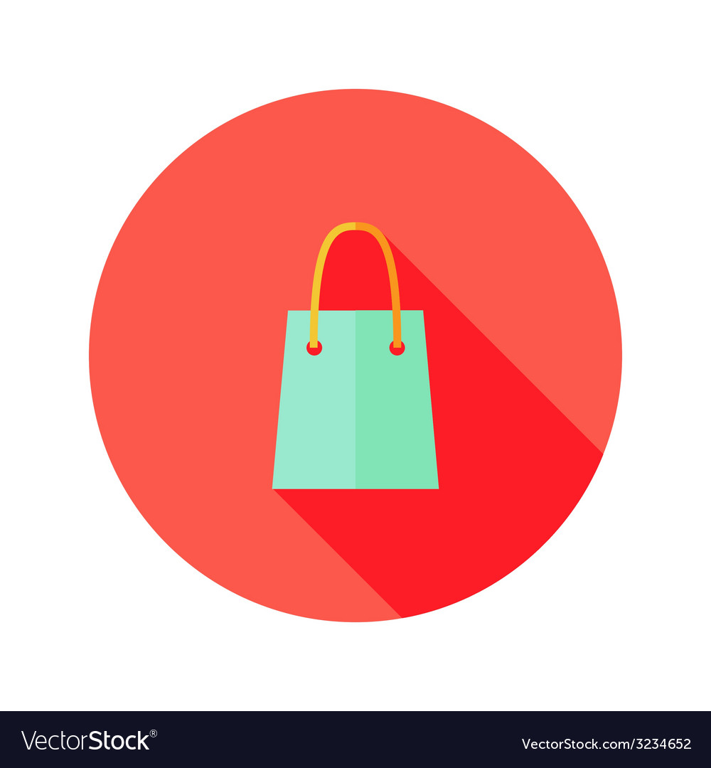 Christmas shopping bag flat icon vector | Price: 1 Credit (USD $1)