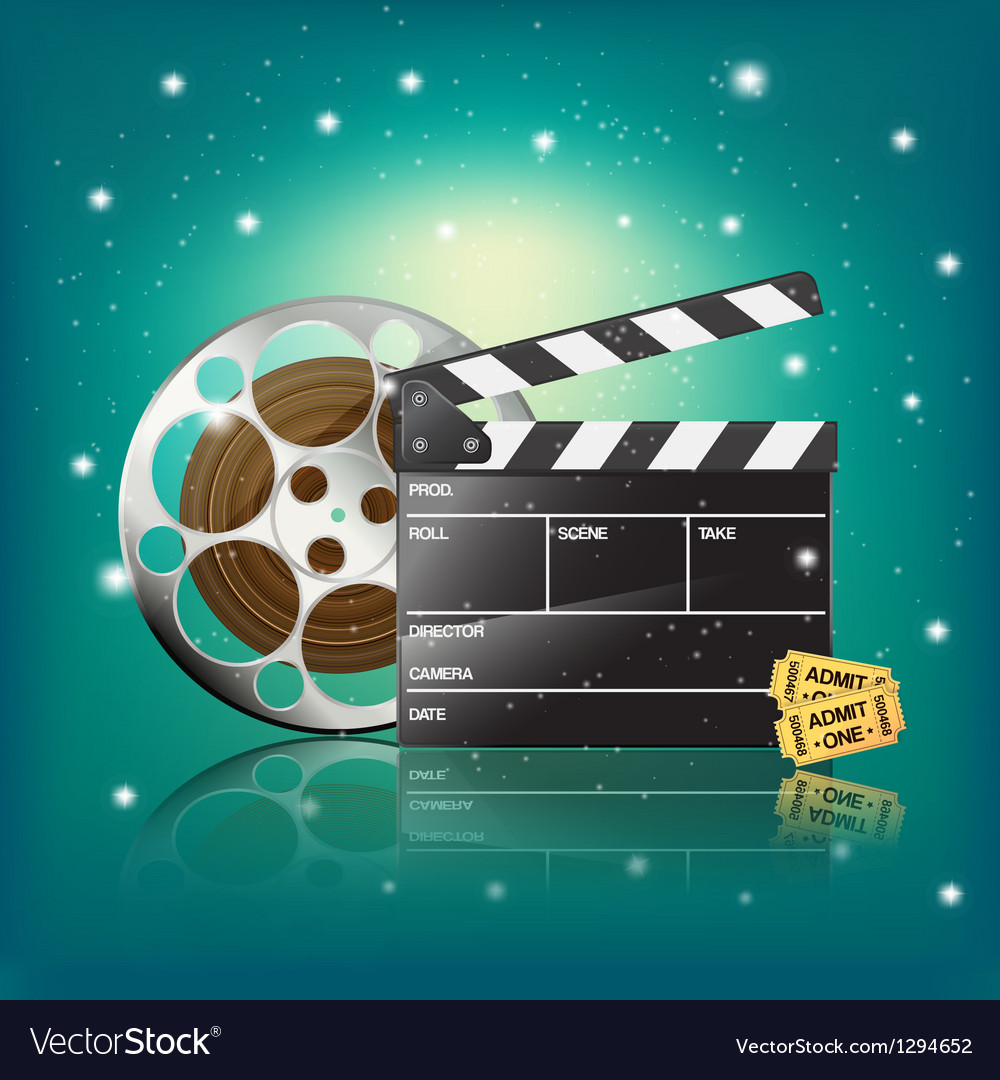 Clapper cinema tickets vector | Price: 5 Credit (USD $5)
