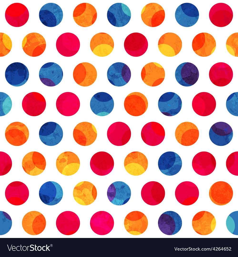 Colored circle seamless pattern with grunge effect vector | Price: 1 Credit (USD $1)