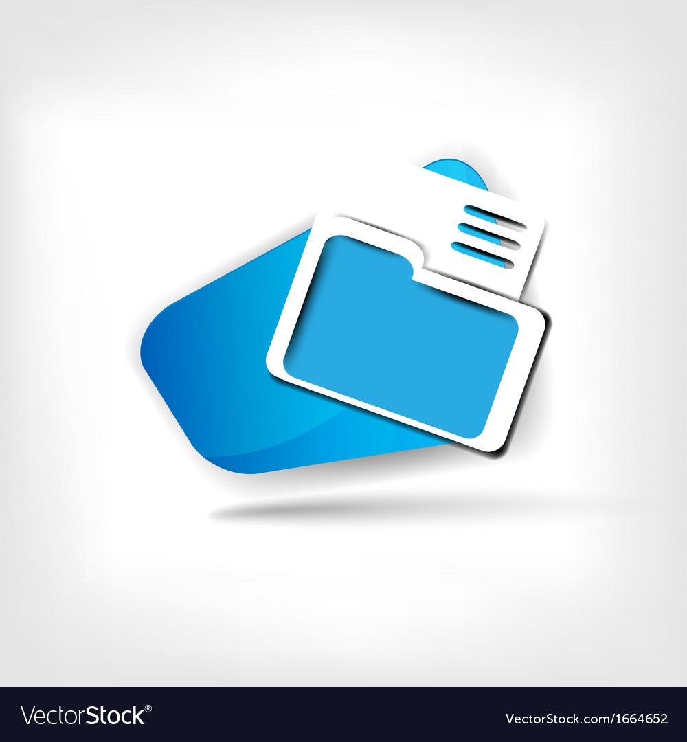 Folder web icon vector | Price: 1 Credit (USD $1)
