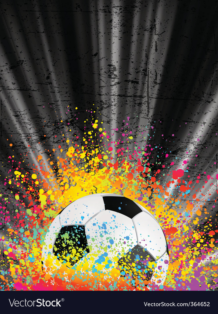 Football poster light burst vector | Price: 1 Credit (USD $1)