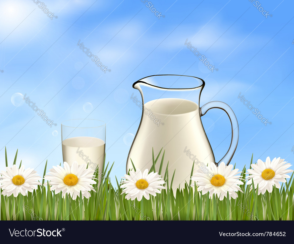 Glass of milk vector | Price: 1 Credit (USD $1)