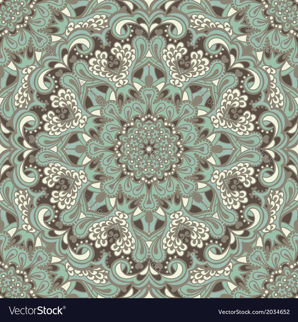Oriental ornate seamless pattern vector | Price: 1 Credit (USD $1)