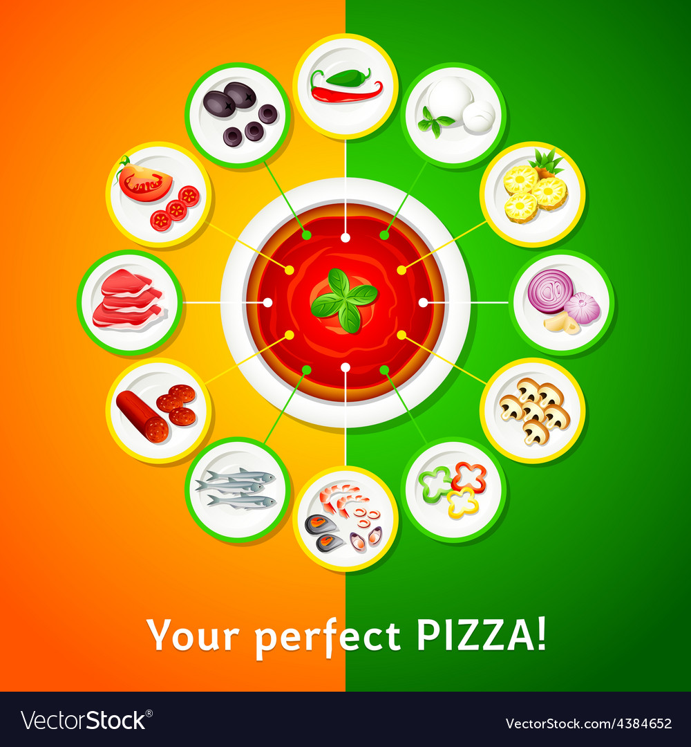 Pizza toppings vector | Price: 1 Credit (USD $1)