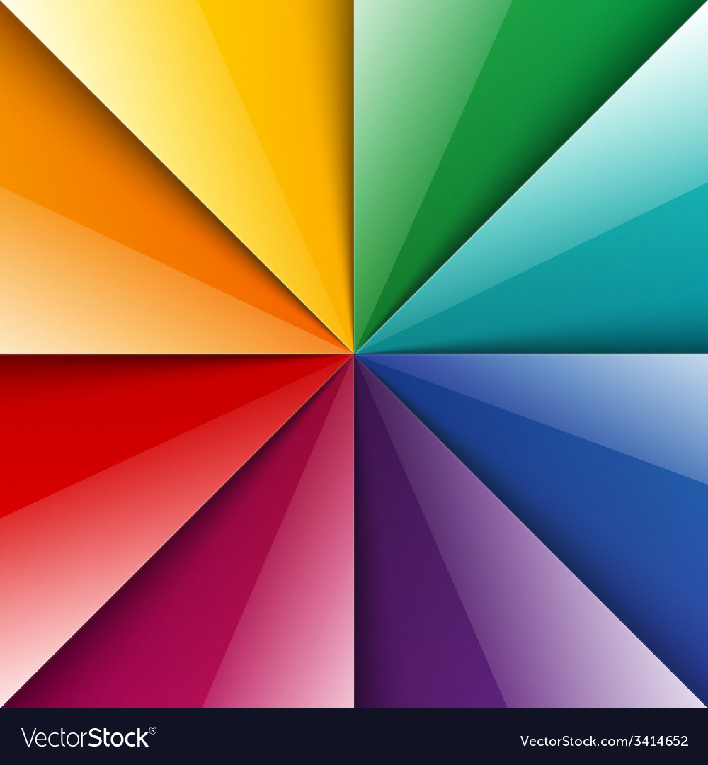 Rainbow shiny folded paper triangles background vector | Price: 1 Credit (USD $1)