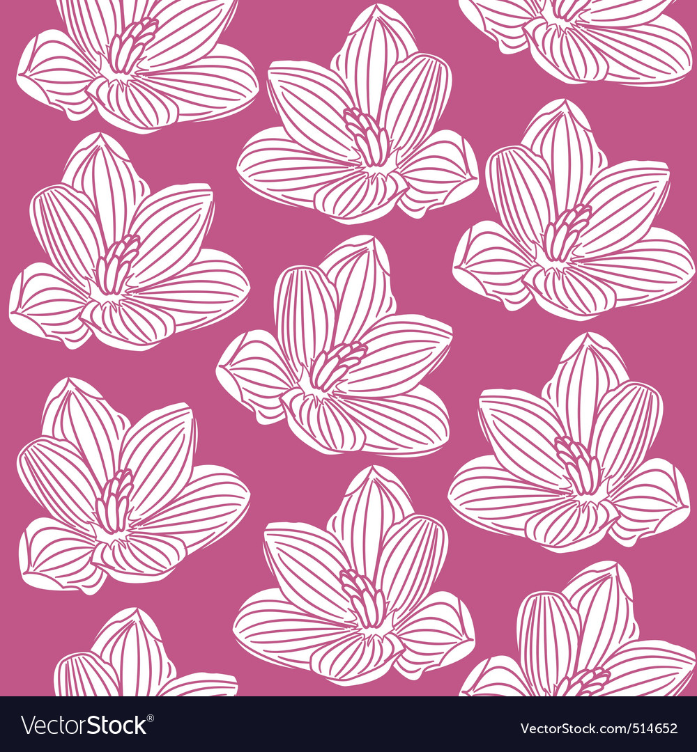 Seamless pattern with abstract white flowers vector | Price: 1 Credit (USD $1)