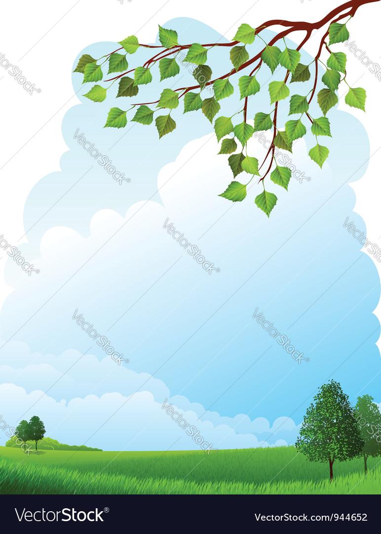 Summer landscape vector | Price: 3 Credit (USD $3)