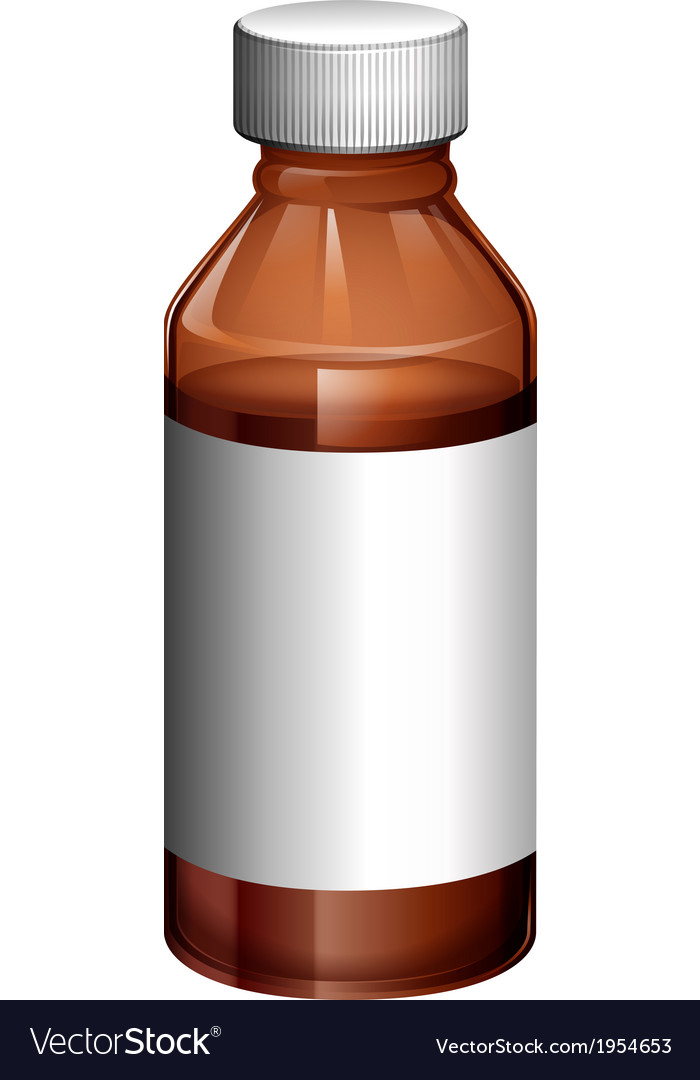 A light brown medical bottle vector | Price: 1 Credit (USD $1)