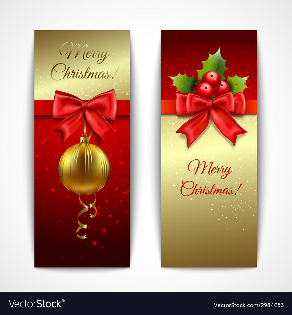 Christmas banners vertical vector | Price: 1 Credit (USD $1)