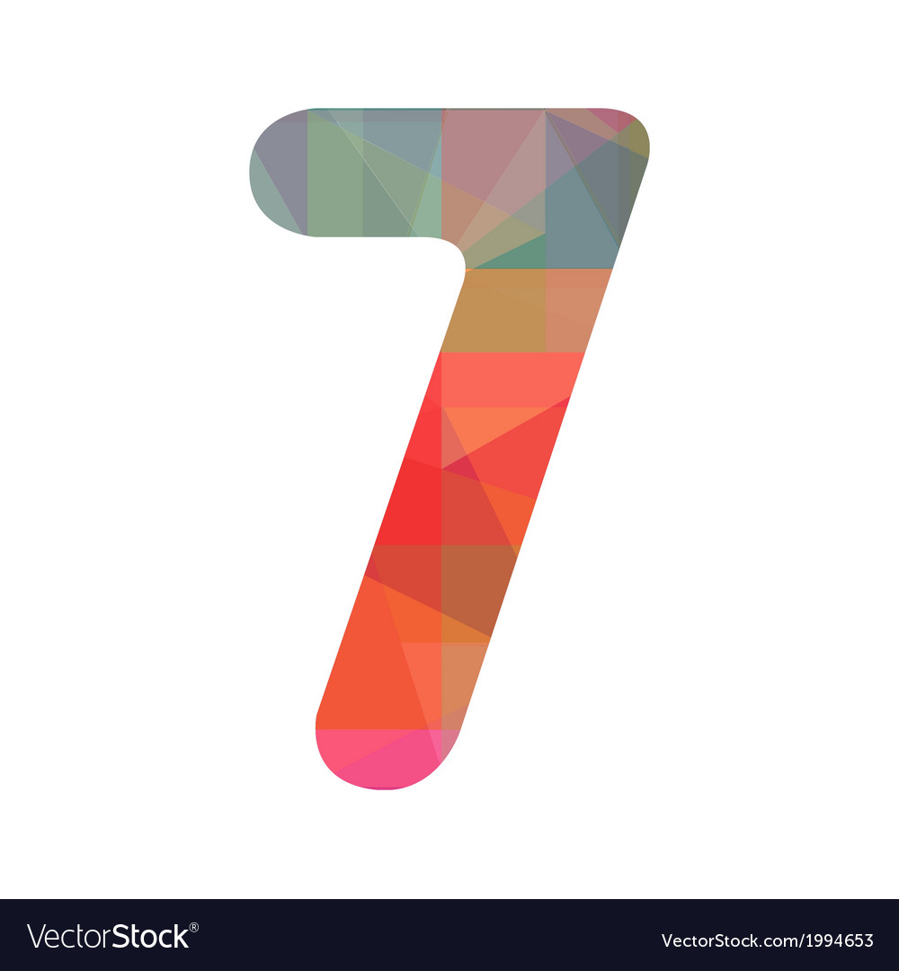 Colorful number seven vector | Price: 1 Credit (USD $1)