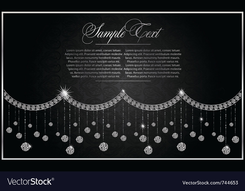 Diamond greeting card vector | Price: 1 Credit (USD $1)