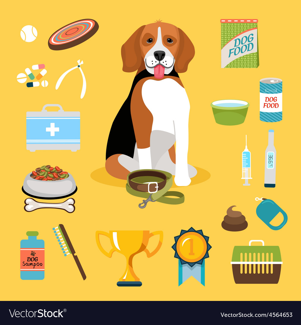 Dog life icons vector | Price: 1 Credit (USD $1)