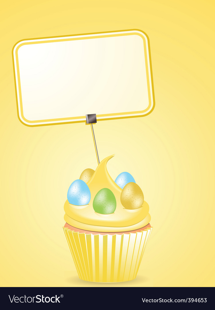 Easter cupcake and label vector | Price: 1 Credit (USD $1)