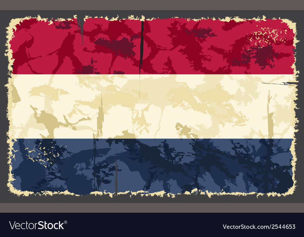 Holland netherlands grunge flag vector | Price: 1 Credit (USD $1)