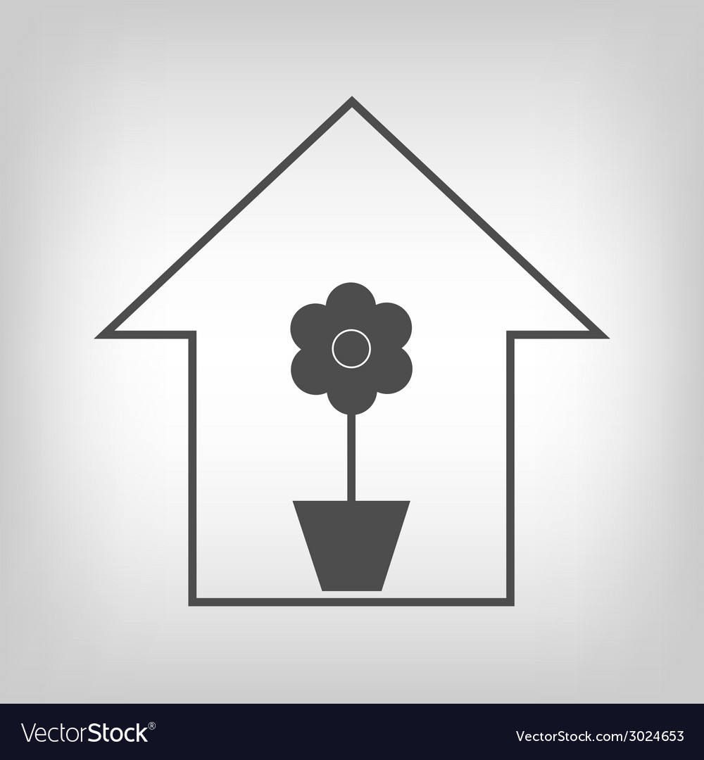 House with plant vector | Price: 1 Credit (USD $1)